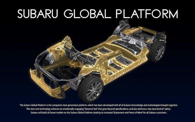 スバル新型フォレスターのプラットフォームに採用されるSGP(SUBAL GLOBAL PLATFORM)
