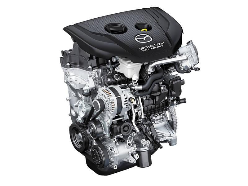 新型CX-3のディーゼルエンジン