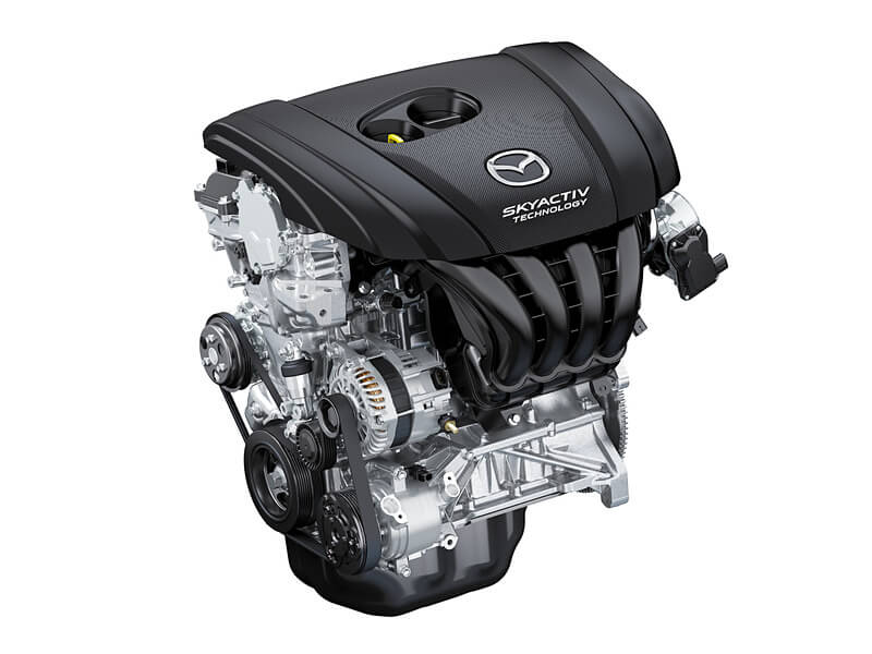 新型CX-3のガソリンエンジン