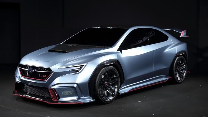 新型WRX STIのコンセプトカーと見られるモデル