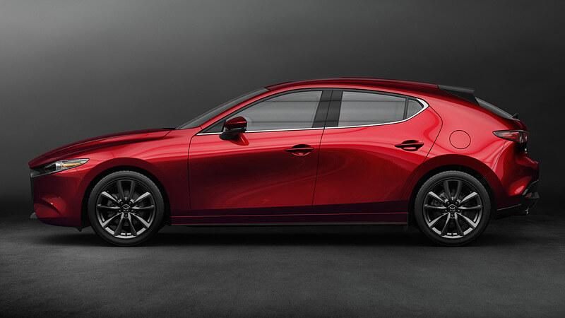 新型Mazda3ハッチバックの外観