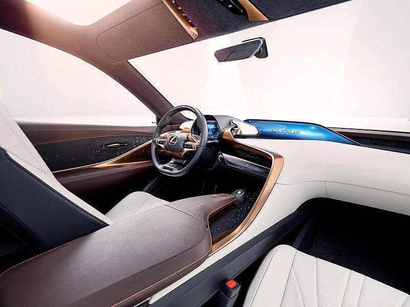 レクサスの新型SUVコンセプトの内装